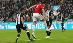 Harry Maguire missed a golden chance to put Manchester United 1-0 up in the first half at Newcastle.