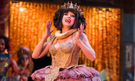 Meow Meow (Titania) in A Midsummer Night's Dream at Shakespeare's Globe, directed by Emma Rice.