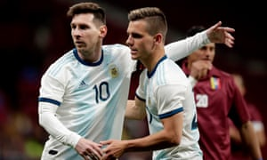 "Giovani Lo Celso: ""I'd dreamed of playing for the national team since I was a boy and to have been alongside Messi in training and to have played with him was a wonderful thing."""