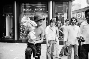 Street ventriloquist, East 42nd Street, 1977