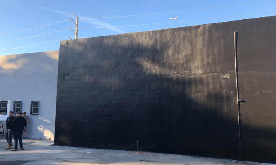 The wall was painted over after managers at the space told Castro police had complained.