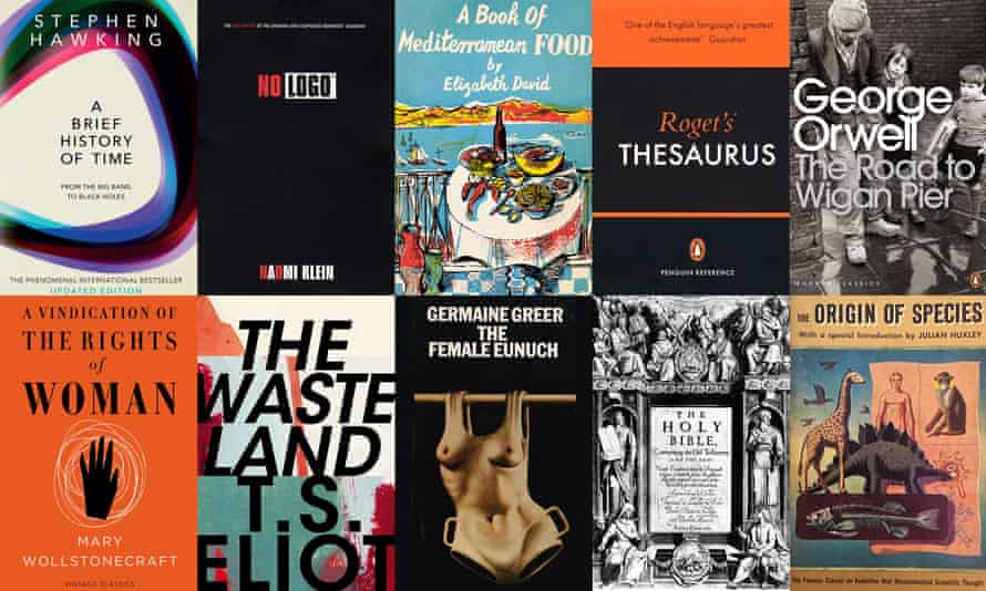 Composite for the 100 best nonfiction books of all time list