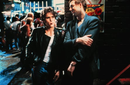 Heartthrob … Dillon with Mickey Rourke in 1983's Rumble Fish.