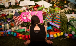 A memorial for the victims of the Orlando gay nightclub massacre.
