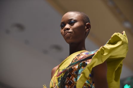 A model during Africa Fashion Week in Lagos earlier this year.