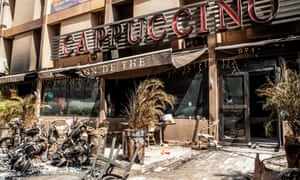 The Cappuccino restaurant in Ouagadougou after it was attacked by militants