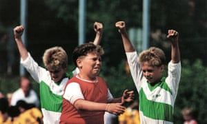 Heaven and hell: a picture from the Gothia Cup youth football tournament in 1990. Nine-hundred-and-thirty-seven teams from 42 different countries took part that year.