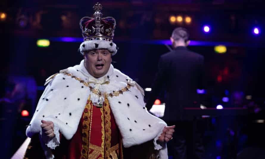 Gavin Spokes performs as King George in Musicals: The Greatest Show