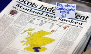 Election issue of Scots Independent on sale at the SNP conference