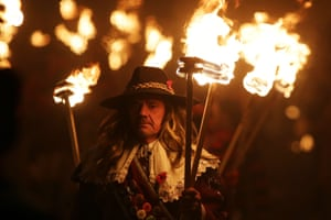 The terrible fate of those burned is now marked in Lewes by six rival societies which each build their tableaux in secret to carry to their own bonfires