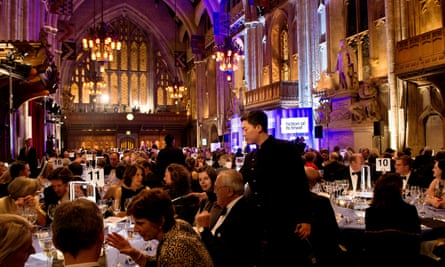 guests at the 2012 Man Booker prize ceremony at the Guildhall in London.