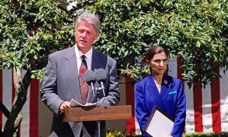 Bill Clinton nominated Ginsburg for the supreme court.