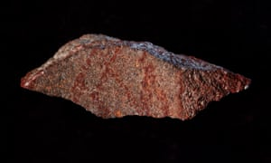 The earliest known drawing in history – a red, cross-hatched pattern – has been found in a cave in South Africa.