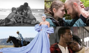 Clockwise from top left: Roma, Leave No Trace, If Beale Street Could Talk, The Rider and, centre, Lady Gaga.