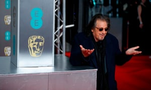 Not everyone's a winner … Al Pacino poses next to a logo for mobile phone company EE.