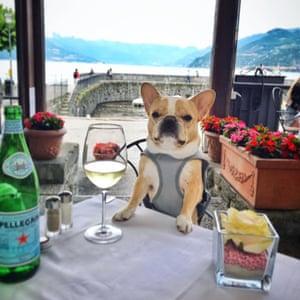 Chloe at Lake Como.