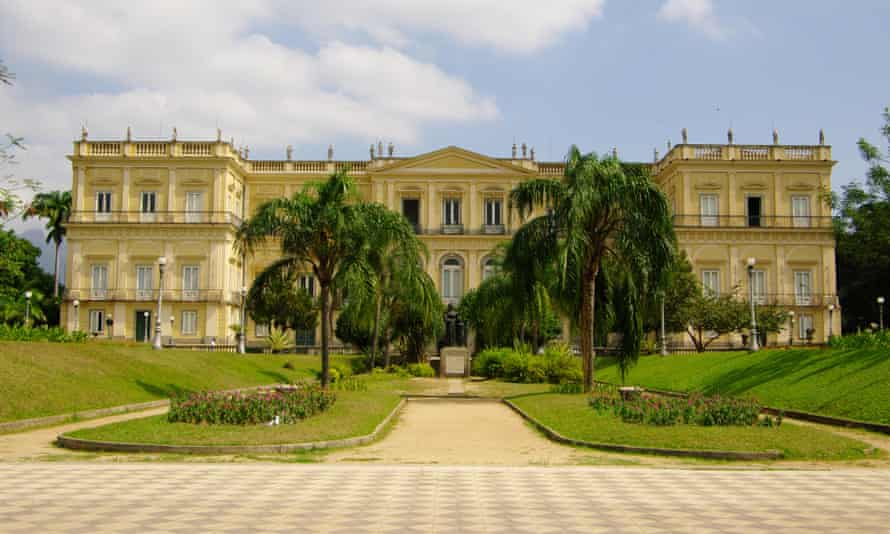 The National Museum facade, in the middle of the park Quinta da Boa Vista, Rio de Janeiro.