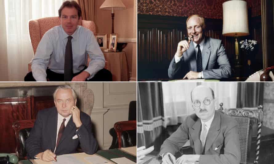 Tony Blair, Neil Kinnock, Clement Attlee and Harold Wilson.