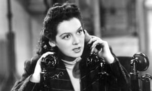 Rosalind Russell as Hildy Johnson in His Girl Friday.