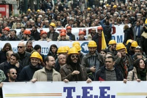 Self-employed freelancers from a number of professions - lawyers, engineers, doctors, solicitors, pharmacists, tax accountants - march in central Athens, to express their opposition to the government's planned social security bill.
