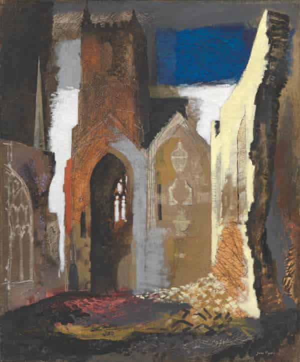 St Mary le Port, Bristol 1940, one of John Piper's commissions as a war artist.
