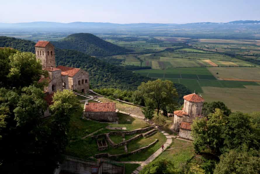 The Nekresi monastery and the fertile plains of the eastern Kakheti region