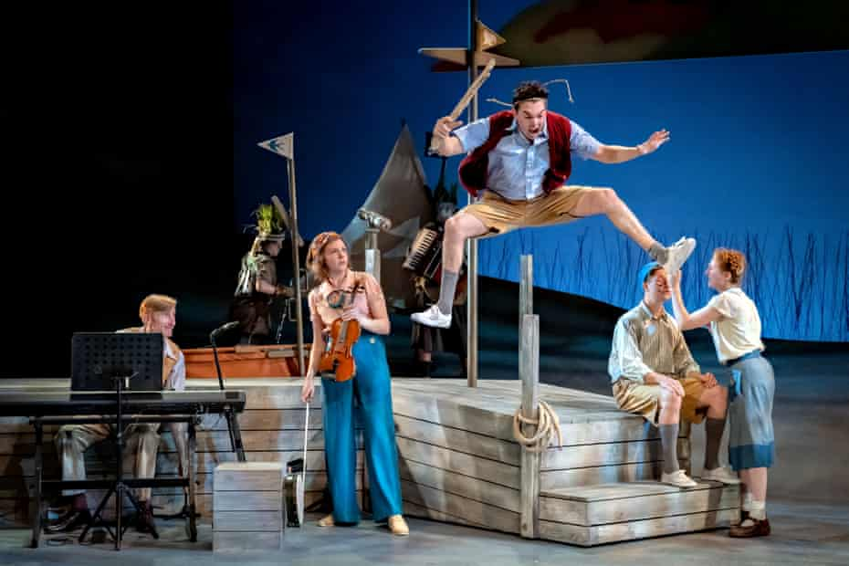 War, probably … William Pennington as Roger with the cast of Swallows and Amazons at York Theatre Royal.