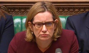 Amber Rudd answers an urgent question in the House of Commons.