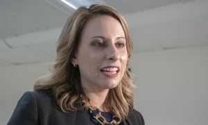 Katie Hill in Washington DC, on 3 April.