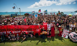 A Stop Adani rally in Airlie Beach