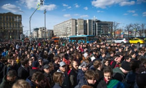Protesters in Moscow.