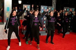 """Sisters Uncut protest """"Times Up Theresa"""" on the red carpet"""