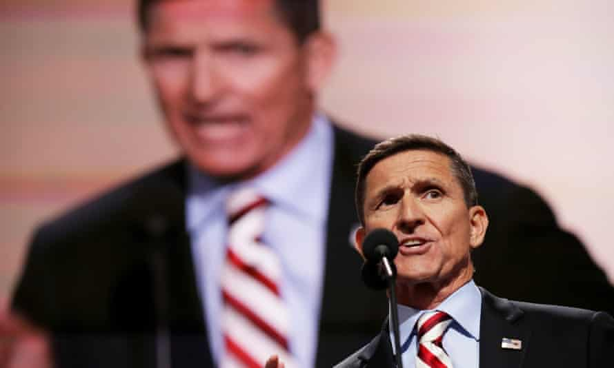 Former national security adviser Michael Flynn. Flynn has resigned from the Trump administration after less than a moth in office.