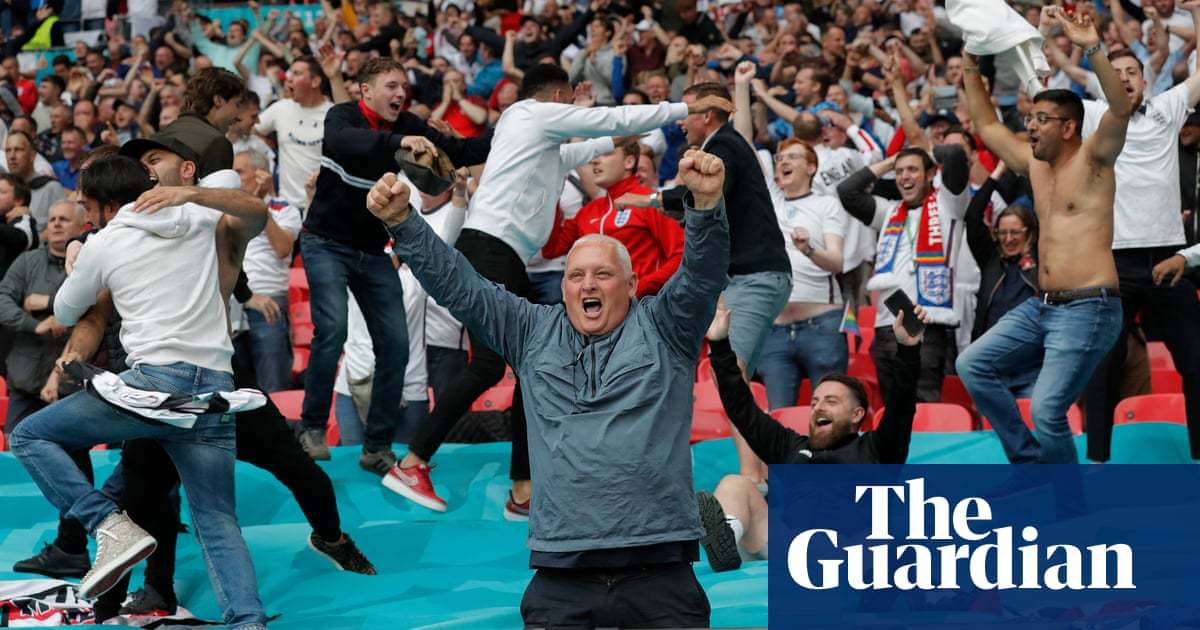 England fans enjoy delirious Wembley party as Germany are swept aside
