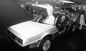 John DeLorean in his DMC-12, the gull-winged sports cars featured in the Back to the Future film. 20/10/1981