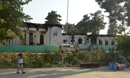 Damaged buildings at the MSF hospital in Kunduz.