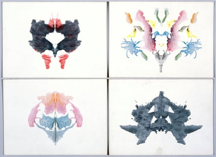 Four Rorschach inkblot tests, 1921.