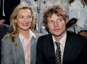 Kate Moss and Count Nikolai von Bismarck on the front row .