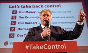 Boris Johnson, figurehead for a deeply flawed Leave campaign.