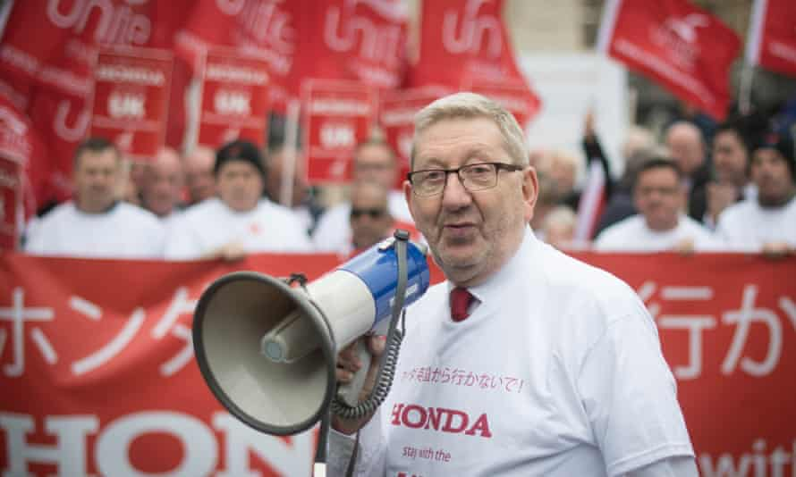 Len McCluskey at a protest in Westminster, March 2019