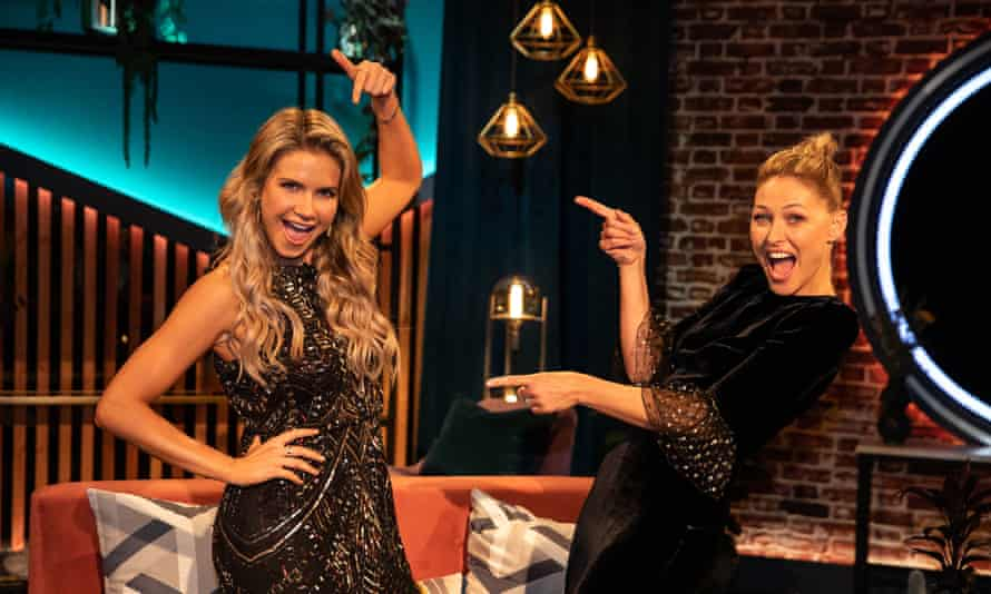 Natalya (left) who scooped the £100,000 prize on The Circle after masquerading as 'the perfect man' with host Emma Willis.