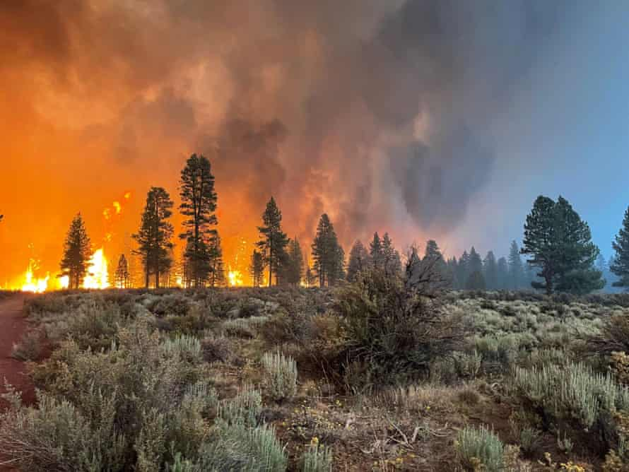 The Bootleg fire is burning in southeastern Oregon.  The bushfire is the largest of many now burning in the West.