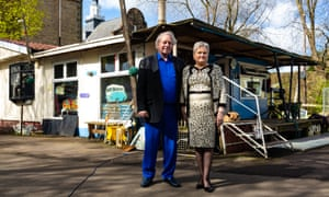 Jimmy and Diane Stringfellow outside their home in Water Row, Govan