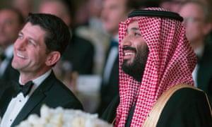 Mohammed bin Salman and US Parliament Speaker Paul Ryan attend the Saudi-American Partnership Gala in Washington