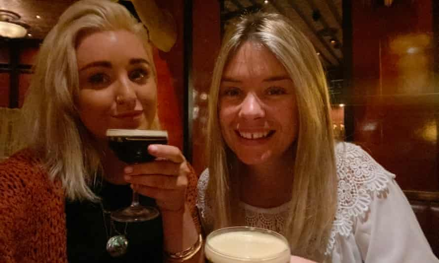 Lottie and Amber on their date.