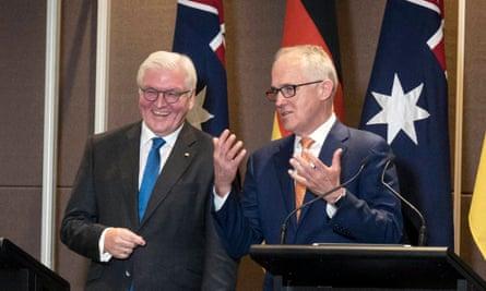 German president Frank-Walter Steinmeier and Malcolm Turnbull