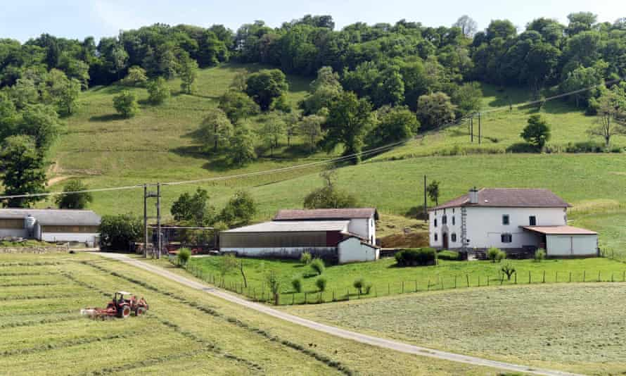 A small farm in Larceveau, south-west France, on May 27, 2021