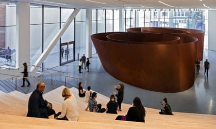 Grand entrance … Richard Serra's Sequence (2006), in the Roberts Family Gallery at at SFMOMA.