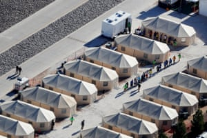 A tent encampment to house children separated from their parents in Tornillo, Texas.
