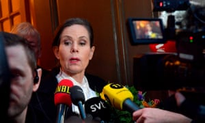 The Swedish Academy's permanent secretary Sara Danius, as she told journalists that she would leave her position and the Swedish Academy immediately.
